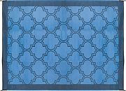 Camco 42856 Outdoor Mat 9´ X12´ Blue/Blue
