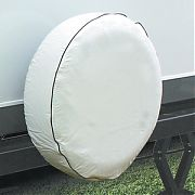 Camco 45346 Spare Tire Cover 27IN Arcwhite