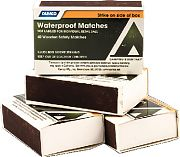 Camco 51334 Waterproof Matches 4 Boxes/Pk
