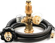 Camco 59125 Brass Tee with 4 PORTS5´ Hose
