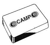 "Camp B6 Zinc Rectangular Hull Plate 4-7/8"" Long"