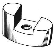 Camp BP-129 Bow Thruster Anode w/ Screw