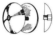 """Camp R7 6-1/2"""" Diameter Zinc Rudder Anode"""