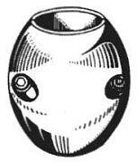 "Camp X3A 1"" Zinc Barrel Collar Heavy Duty"