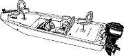 Carver 77815CSG 15´ Jon Boat Camo Cover
