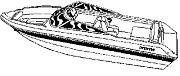 Carver 87121 V 21 I/O Travel Boat Cover