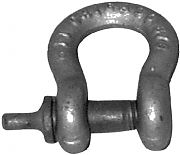 Chicago Hardware 201100 Shackle Anchor Galv 1/4IN