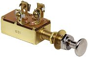 Cole Hersee M532BP Push Pull Switch - SPDT - Off/On/On