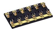 Cole Hersee M64301 8 Gang Fuse Block with Common Hot Feed