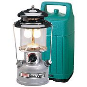 Coleman Lantern, 2-Mantle, Adjustable, Dual Fuel w/Case