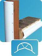 Dock Edge 1020F Pling Bumper - 6 Ft Lengths, Capped One End (Top), White