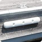 "Dock Edge 35"" Ultragard White PVC"