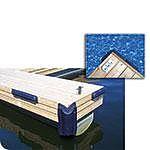 """Dock Edge 70609F Dock Bumper, Corner, 24"""", EVA, Navy Blue"""