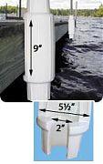 "Dock Edge 91110F Torpedo Bumper, 18"", PVC, White"