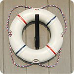 "Dock Edge Life Ring 19"" Poolside White"