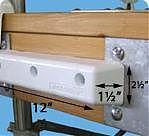 "Dock Edge Protect Straight 12"" White PVC"