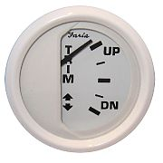 Dress White Trim Gauge, J/E, Suzuki Outboard
