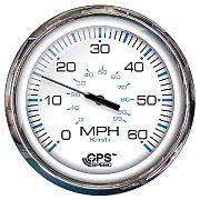 "Faria 33861 Chesapeake White SS 5"" GPS Speedometer 60 MPH"