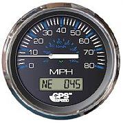 Faria Chesapeake Black SS 80 MPH GPS Speedometer