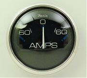 Faria Chesapeake Black SS Ammeter 60-0-60