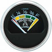 Faria Chesapeake Black SS Battery Condition Indicator 12 Vdc