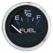 Faria Chesapeake Black SS Fuel Level Gauge    E-1/2/F
