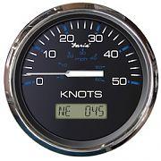 Faria Chesapeake Black SS GPS Speedometer 50 Knots