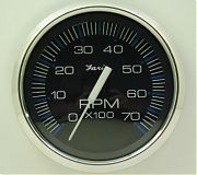 Faria Chesapeake Black SS Tach 7000 universal for all outboard