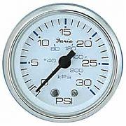 Faria Chesapeake White SS 30 PSI Water Pressure Gauge Kit