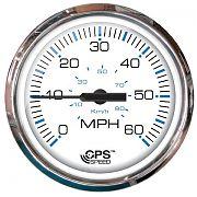 Faria Chesapeake White SS 60 MPH GPS Speedometer