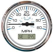 Faria Chesapeake White SS 60 MPH GPS Speedometer with Display