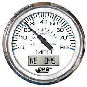 Faria Chesapeake White SS 80 MPH GPS Speedometer