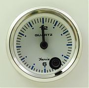 Faria Chesapeake White SS Clock - quartz analog
