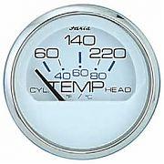 Faria Chesapeake White SS Cyl Head Temp   60°-220°F with Sender
