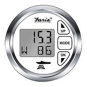 Faria Chesapeake White SS Depth Sounder with Air and Water Temp