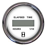 Faria Chesapeake White SS Digital Hourmeter 12-32 Volts