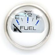 Faria Chesapeake White SS Fuel Level Gauge E-1/2/F
