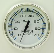 Faria Chesapeake White SS Tach 7000 universal for all outboard