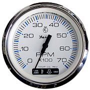 Faria Chesapeake White SS Tachometer 7000 Rpm with Suzuki Monitor
