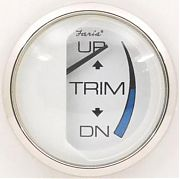 Faria Chesapeake White SS Trim Gauge, OMC outboard