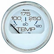 Faria Chesapeake White SS Water Temp Gauge 100?-250?F