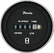 Faria Coral Hourmeter, 10,000 hrs 12-32 vDC
