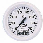 Faria Dress White Tach/Sys Check 7000 RPM