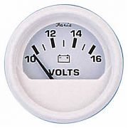 Faria Dress White Voltmeter, 10-16 vDC