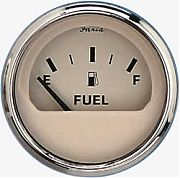 Faria Euro Beige SS Fuel Level Gauge E-1/2/F