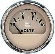 Faria Euro Beige SS Voltmeter, 10-16 Vdc