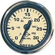 Faria Euro Beige SS Water Press Gauge Kit 30 Psi