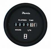 Faria Euro Hourmeter, 10,000 hrs 12-32 vDC