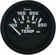 Faria Euro Water Temp Gauge 100-250F