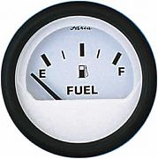 Faria Euro White Fuel Level Gauge E-1/2/F